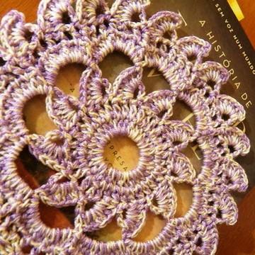 Mini toalha em crochet