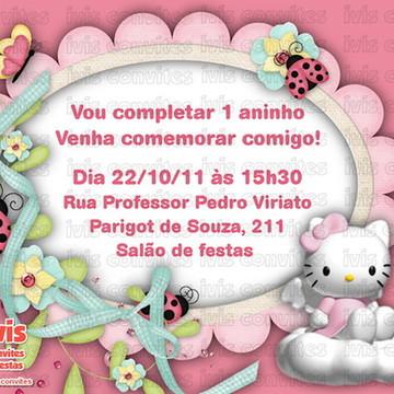 Convite Digital Hello Kitty