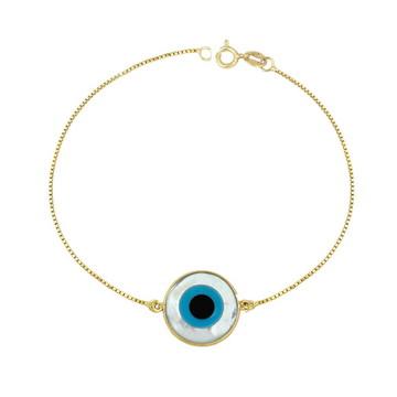 Pulseira olho grego - ouro