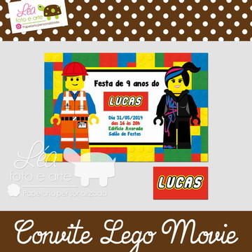 Convite Lego Movie