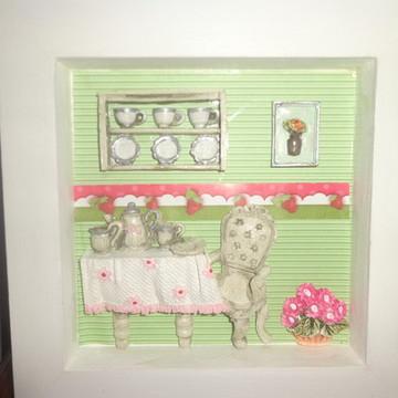 Quadro Miniatura Bela Cozinha