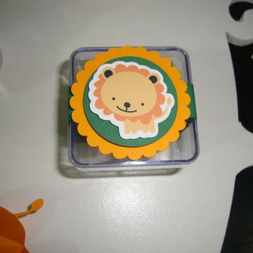 Topper para cupcake personalizado safari