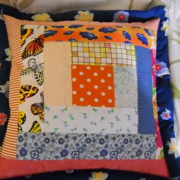 Capa p/almofada patchwork