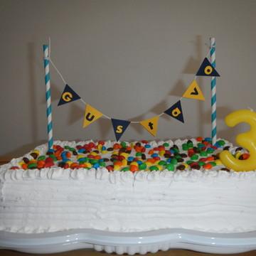 Mini bandeirola para bolo
