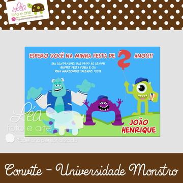 Convite Universidade Monstro