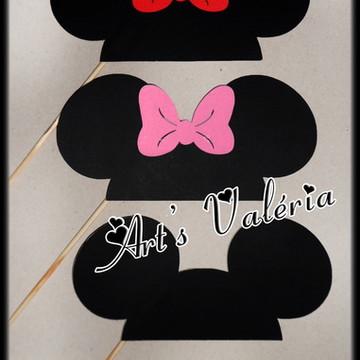 Plaquinhas De Orelhas - Mickey ou Minie