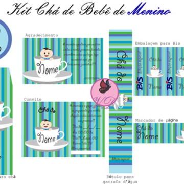 Kit Chá de Bebê - Menino