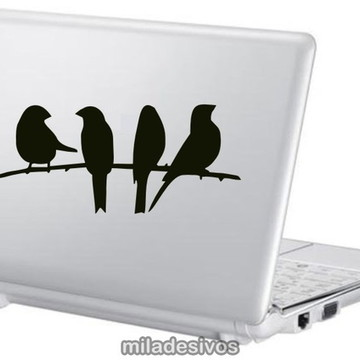 Adesivos notebook passarinhos no galho