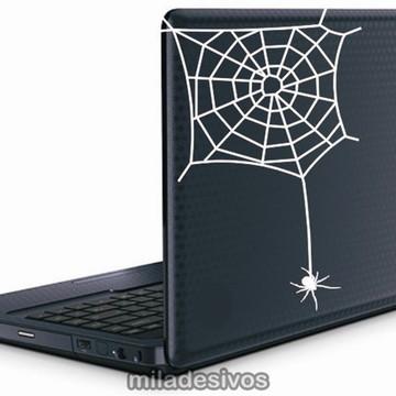 Adesivos de notebook teia de aranha