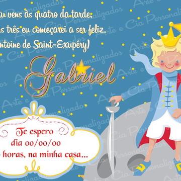 Convite Pequeno Príncipe 3