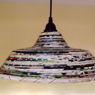 luminária sustentável papel
