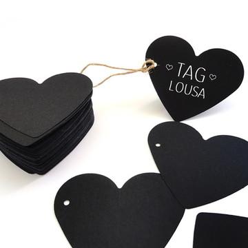 Tag Lousa - Coração - Dia dos Namorados