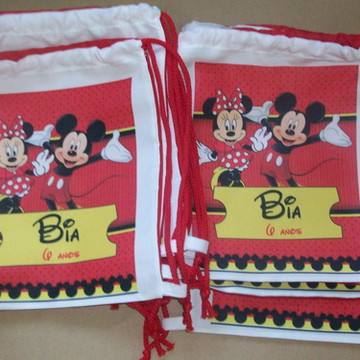 Mochilinha Minnie e Mickey
