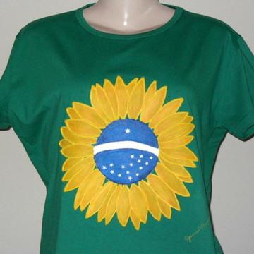 Blusa Girassol Brasil