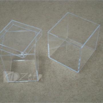 Kit 2 Potes Acrílico Cristal