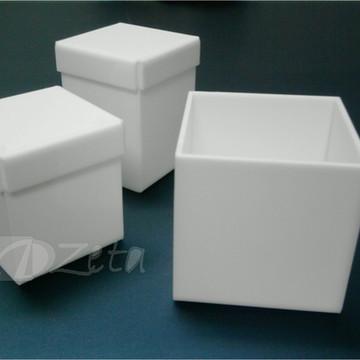 Kit 3 Potes Acrílico Branco