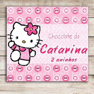 Adesivo chocolate Hello Kitty