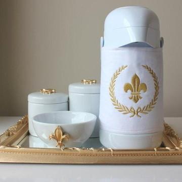 Kit Higiene Flor-de-Lis com Garrafa