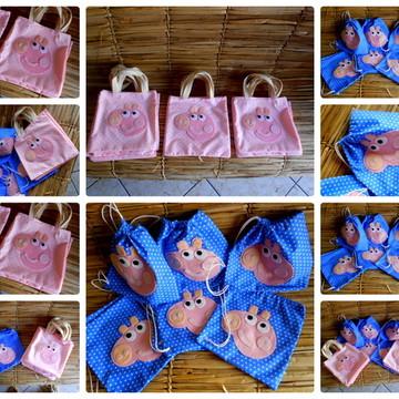 Bolsinhas de lembrancinhas Peppa Pig
