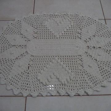 Tapete do Lavatório Oval em Crochê 2
