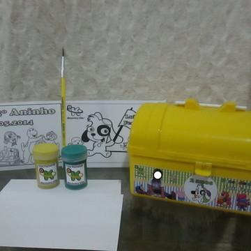 Kit maletinha com tinta guache