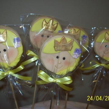 Pirulito de biscoito Rapunzel