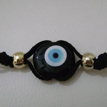 Pulseira olho turco/olho grego preto