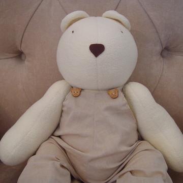 (Bi 0100b) Urso pelúcia com macacão