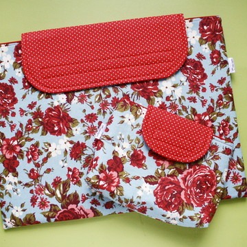 Case Para Notebook + Estojo - Floral