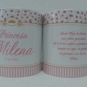 Caneca lembrança nascimento princesa