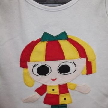Camisetas em Patch Aplique Emília
