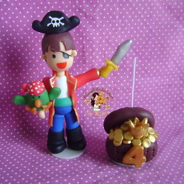Topo de Bolo + Vela Pirata