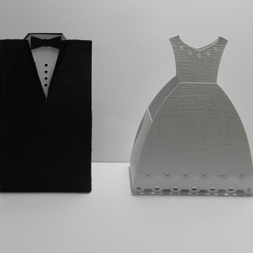 Caixa noivo e noiva