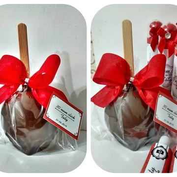 Maça do Amor de Chocolate