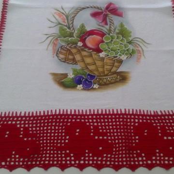 Pano de Copa - Cesto com frutas