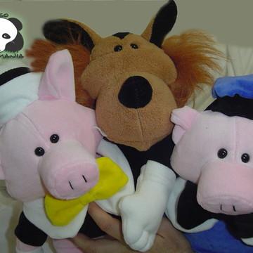 Lobo Mau e os três porquinhos de plush
