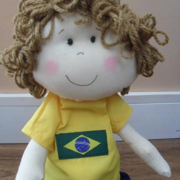 c2e7bde14d5ab Boneco de Pano Time de Futebol - Brasil