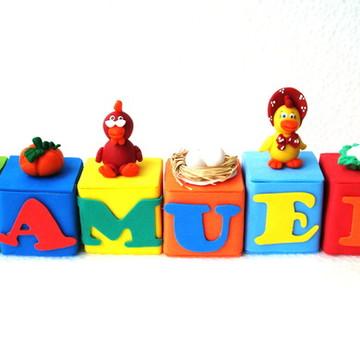 Cubinhos De Nomes Tema Cocoricó