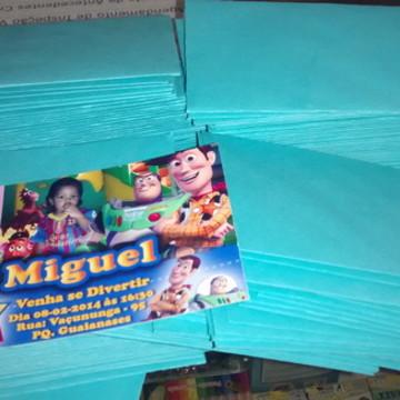 Convite em Papel especial + envelope