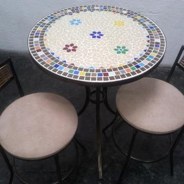 Mesa em Mosaico Florzinhas