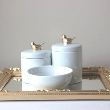 Kit Higiene Pássaro Dourado