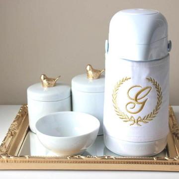 Kit Higiene Pássaro com Garrafa Térmica