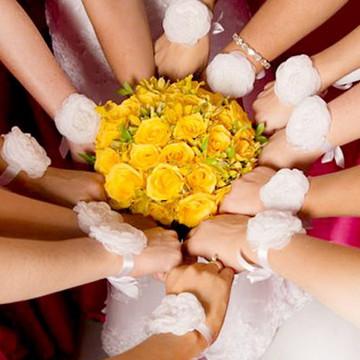 Corsage madrinhas e noivas flor e perola