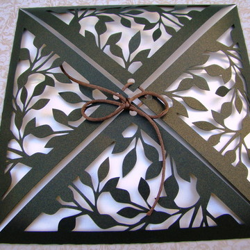 Envelope folhas verde