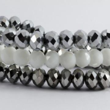 Pulseira Cristal Prata/Branca