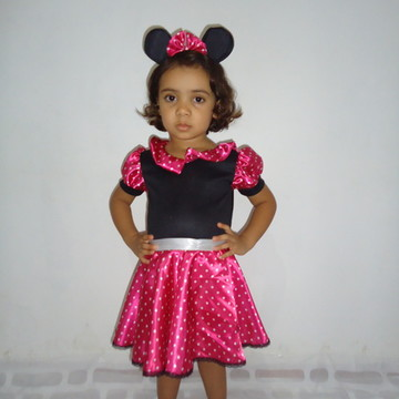 Fantasia Minie Bebê rosa