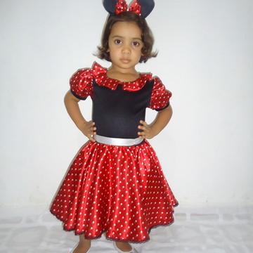 Fantasia Minie Vermelha Bebê