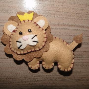 Chaveiro de Feltro (Leão)
