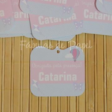 Tag para Lembrancinha Festa Balão