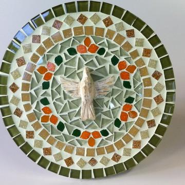 Mandala em mosaico Divino Espírito Santo